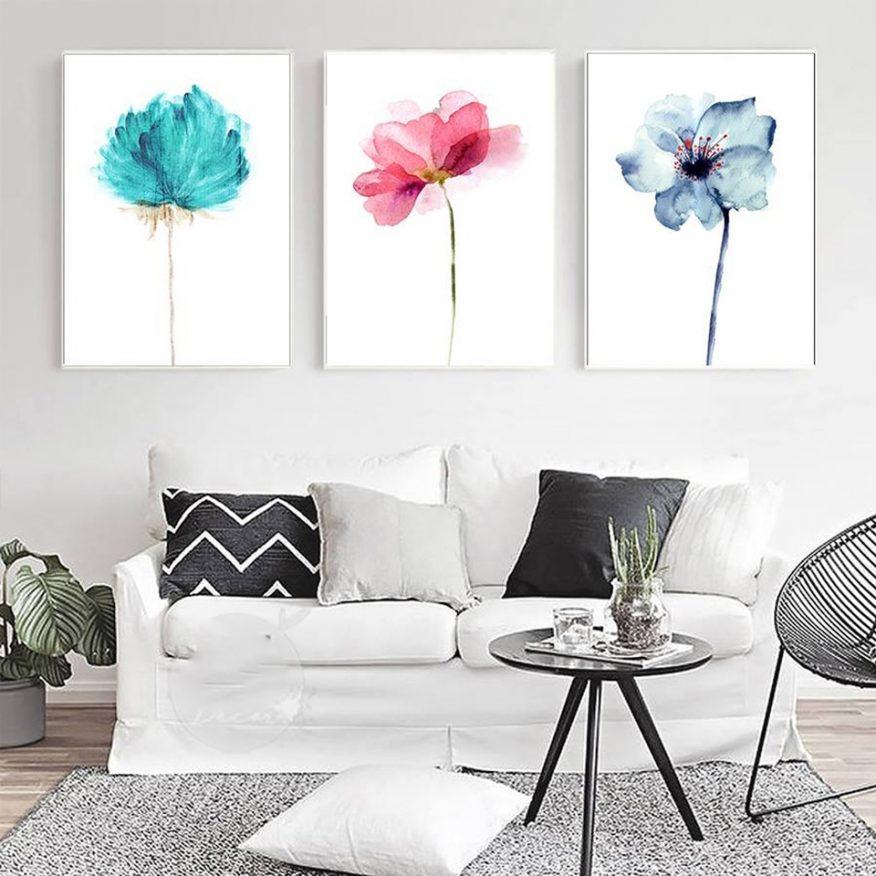 Tranh Vẽ Màu Nước Những Cánh Hoa Đơn Sắc YH00321