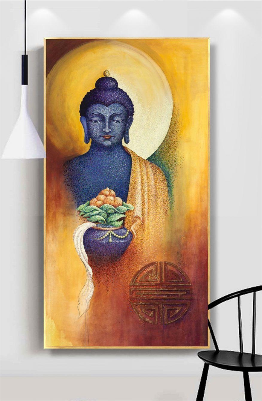 Tranh Vẽ Phật Thích Ca Toả Hào Quang YH00181
