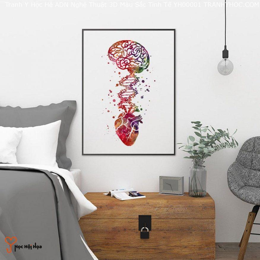 Tranh Y Học Hệ ADN Nghệ Thuật 3D Màu Sắc Tinh Tế YH00001