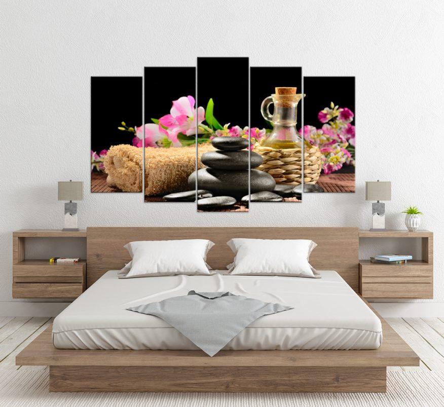 Tranh Canvas Hòn Cụi Và Gương Hoa YH00358